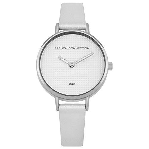 French Connection Damen Analog Quarz Uhr mit Leder Armband FC1319W