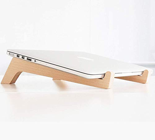 iDeporte Wooden Laptop Stand 2 Pack Laptop Holder Support Stable Tablets Mobile Phone Holder For Home Office Travel