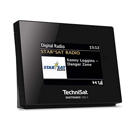 TechniSat DIGITRADIO 100 C – DAB+ Radio Adapter mit Bluetooth (DAB, UKW-Empfangsteil zur Erweiterung von HiFi-Anlagen und AV-Receivern, Farbdisplay, IEC-Buchse, Anschlusskabel, Wecker) schwarz