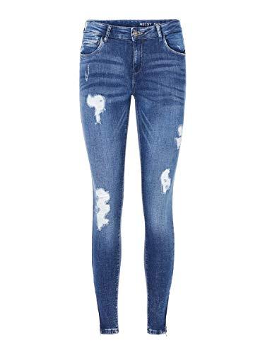 NOISY MAY Damen NMKIMMY NW Ankle Zip AZ003MB NOOS Skinny Jeans, Blau (Medium Blue Denim Medium Blue Denim), W27/L32 (Herstellergröße:27)