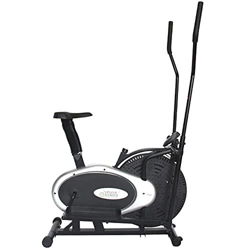 LEEWAY National Bodyline Orbitrek Exercise Elite Cycle| Multi Orbitrac Elliptical Wheel Bike| Orbitrack Dual Action/Exercise Cycle with Seat, Exercise Machine, at-Home Exercise Equipment, Black