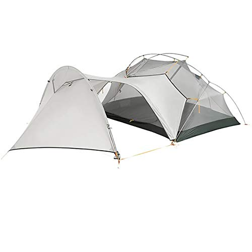 Naturehike Mongar 2 Person 3 Season Camping Tent Ultralight Backpacking Tent for Hiking Cycling (Vestibule-Grey)