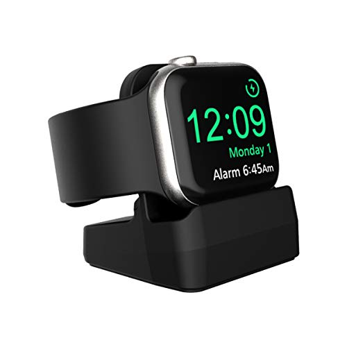SPORTLINK Supporto Apple Watch, Stand per Apple Watch Series 6 / SE/Series 5 / Series 4 / Series 3 / Series 2 / Series 1 / 44mm, 42mm, 40mm, 38mm - Compatibile con Nightstand Modo (Nero)