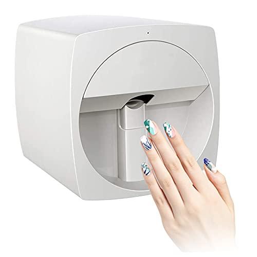 Nail Art Printer Machine, Professional Digital 3D Nail Art Printer, Supporting WiFi Smart Mobile DIY USB (White)