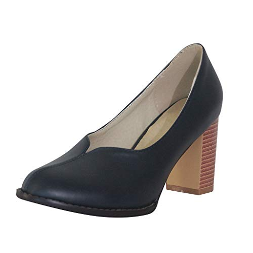 Luckycat Zapatos con Plataforma para Mujer Zapatos Mujer De Tacón Alto Primavera Verano Sandalias Fiesta PU Elegante 7cm Plataforma De Tacones de Aguja Calzado De Tacón Grueso Zapatos Romanos