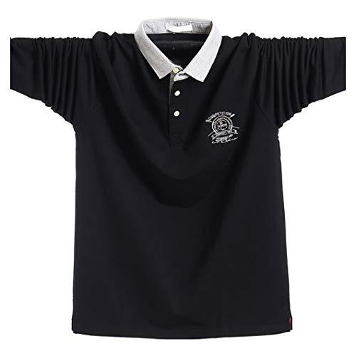 長袖 メンズ ポロシャツ 襟付き 大きいサイズ ストライプ 春夏秋冬 ゴルフウェア 通気性 吸汗速乾 Tシャツ スポーツ オフィス 無地 カジュアル 綿 多色選択 L-5XL 5021�K5XL