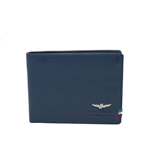 Portafoglio Uomo Orizzontale | Aeronautica Militare | AM102-Blu