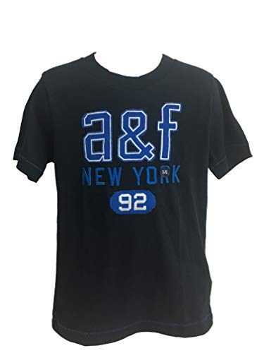 Abercrombie Kids Boy T-Shirt Manica Corta (Blu, 5/6 Anni 110-122 cm)