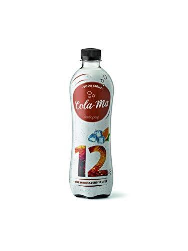 Sodapop Sirup - 500ml Pet-Flasche Sirup für 12L Genuss, Cola Mix, E403258