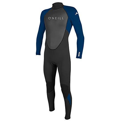 O'Neill Men's Reactor II 3/2mm Back Zip Full Wetsuit, Black/Deep Sea, XX-Large