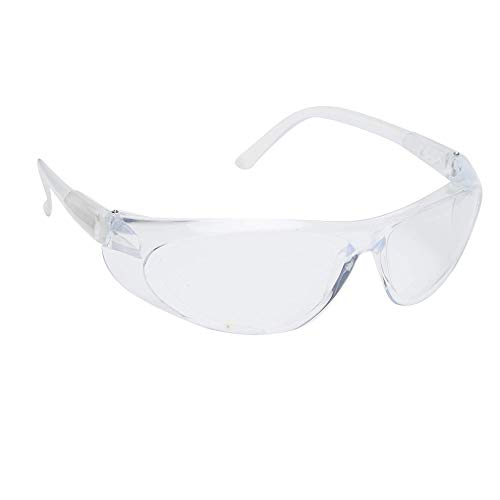 AUGEN Protective Safety Goggles Clear Lens Laboratory Safety Goggle Eye Protection Lightweight Eyewear Unisex Men Women (Clear, 03) (Pack Of 1)