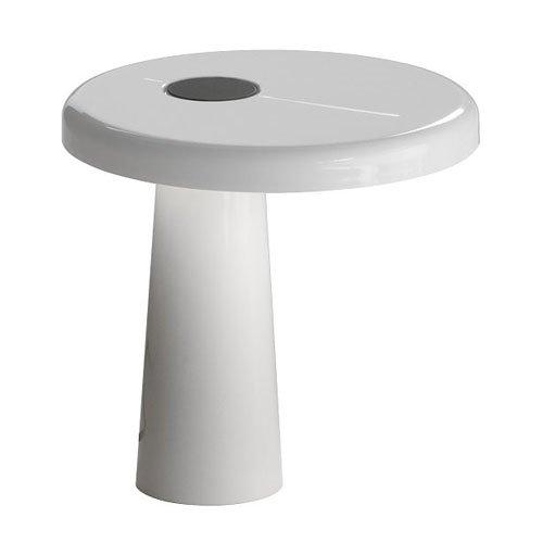 Martinelli Luce 824/BI Hoop Lampe de Table Aluminium/Méthacrylate Blanc