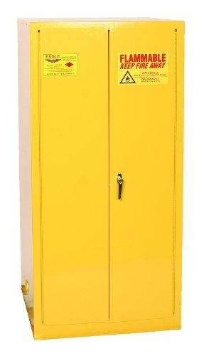 Eagle 1926 Drum Storage Safety Cabinet, 2 Door Manual Close, 55 Gallon, 65