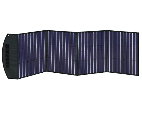 ITEHIL Solar Panel, 100W 18 Volt Monocrystalline Solar Panel Kits, Portable High Efficiency Solar Panel Charger, Foldable Solar Power Backup with USB 3.0/USB 2.0/DC Output for Home, Camping, RV