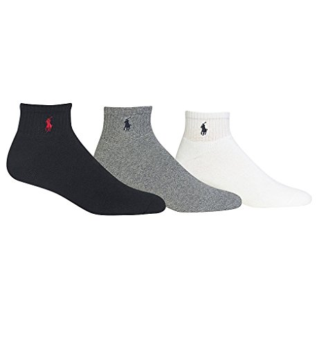 Polo Ralph Lauren 3-Pack Classic Cotton Ankle Socks