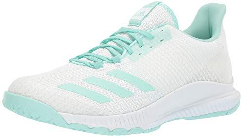 adidas Originals Crazyflight Bounce 2 Volleyballschuh für Damen, Weiá (Weiß/Klar Mint/Clear Mint), 43.5 EU