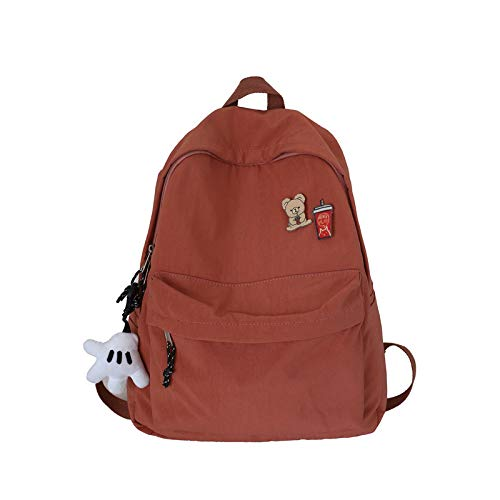 MNBVCX Simple Schoolbag Korean Student Backpack Wild Forest Girl Backpack 34X12X42Cm