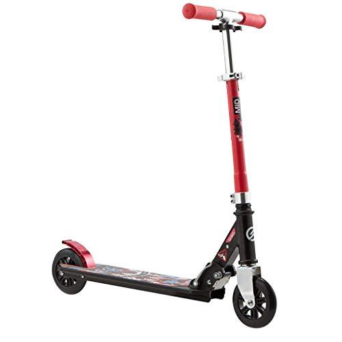 SEESEE.U Scooter Kinder Zweirad Metall Spielzeug Kick W/Heckkotflügelbremse, für Kinder von 6-12 Jahren, höhenverstellbare Kinderklappbrett