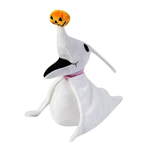 Peluches Peluche Zero 8 Pulgadas Jack Skellington's Ghost Dog Halloween Pumpkin Nose Peluches De Peluche De Regalo
