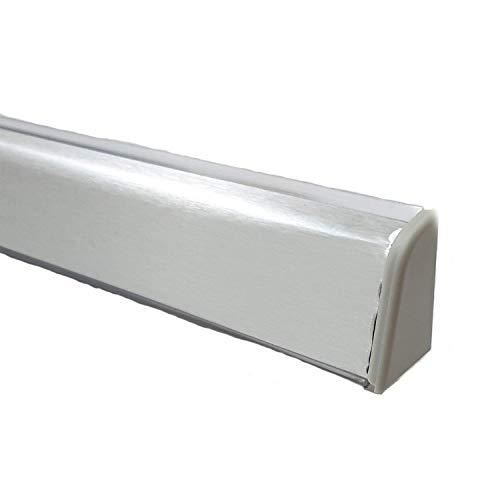 Alzatina per piani da cucina, spalletta per top, alzatina, finale per top con la seguente misura= 2 metri lineari compresa di finali, alzatina in colore acciaio inox