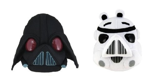 Angry Birds Star Wars 5' Plush - 2 pcs set (Darth Vader and Storm Trooper)