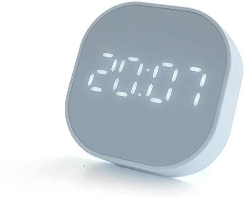 Reloj Despertador Digital, Sensor Inteligente, Pantalla de Temperatura C/F, Función de Cuenta Regresiva, Temporizador de Cocina Magnético, USB/Alimentado por Batería, Dual Alarma, 12/24H (T1- Azul)