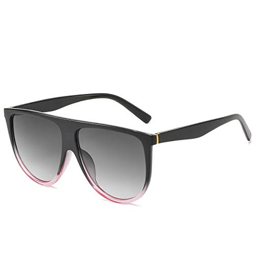 ShZyywrl Gafas De Sol Gafas De Sol De Lujo Lady Retro Vintage Flat Top Oversized Space Gafas De Sol Blackpinkgray