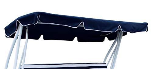 DEGAMO Dachplane für 4-sitzer Hollywoodschaukel Miami 228x120cm (Blau)