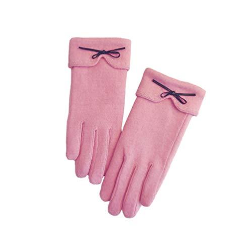 Damen Winter Leder Handschuhe Touchscreen Warme Kaschmirfutter Outdoor Freizeit Handschuhe Nachrichten Schreiben Texting Fahren Eleganz Elastisch Slim Handschuhe