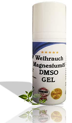 Leivys DMSO Gel - Salbe + Weihrauch Auszug mit Magnesiumöl, bequeme Anwendung, effektive Wirkung 50ml