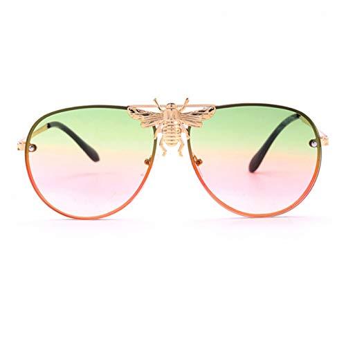 Gafas de lujo Metal gafas de sol Big Bee Pilot Gafas de sol gradiente Retro Gafas de sol marca diseñador hombres mujeres sombras blinkers