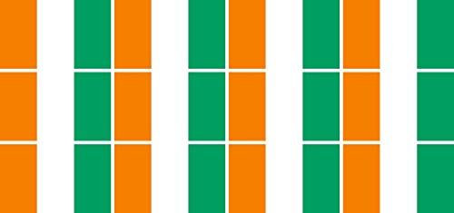 Mini Aufkleber Set - Pack glatt - 50x31mm - Sticker - Elfenbeinküste - Flagge - Banner - Standarte fürs Auto, Büro, zu Hause & die Schule - 12 Stück