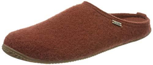 Living Kitzbühel Unisex Pantoffel unifarben mit Fußbett Hausschuh, Ziegel, 42 EU