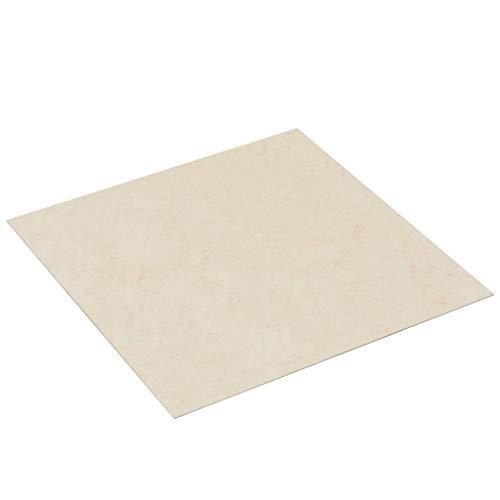 vidaXL PVC Laminat Dielen Selbstklebend Rutschfest Wasserfest Vinylboden Bodenbelag Designboden Vinyl Boden Dielen Planken 5,11m² Beige