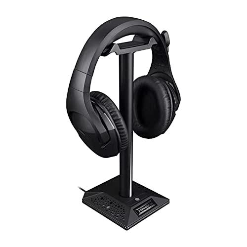 Soporte para auriculares RGB con interfaz de 3,5 mm y 2 puertos USB, accesorio para PC gamer