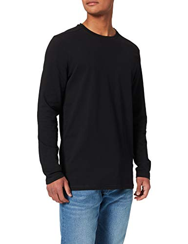 Springfield Camiseta Manga Larga, Negro, M para Hombre