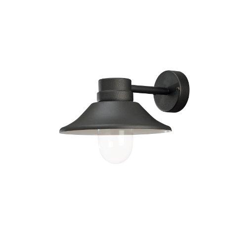 Konstsmide Lantaarn Vega, zwart/transparant, aluminium/glas, 412-750