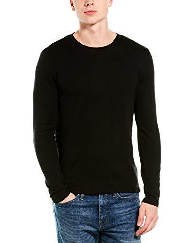 Vince Mens Cashmere-Blend Crewneck Sweater, L, Black