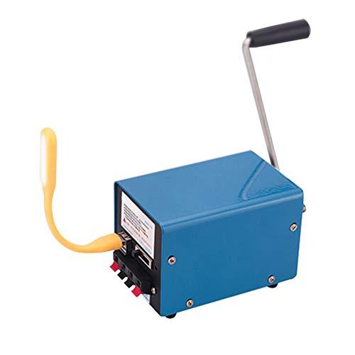 Renoble Handkurbel Generator, 20W Manuelle Kurbel-Generator Stromerzeuger Notfall Überlebens Stromversorgung Für Emergency Survival Advantage