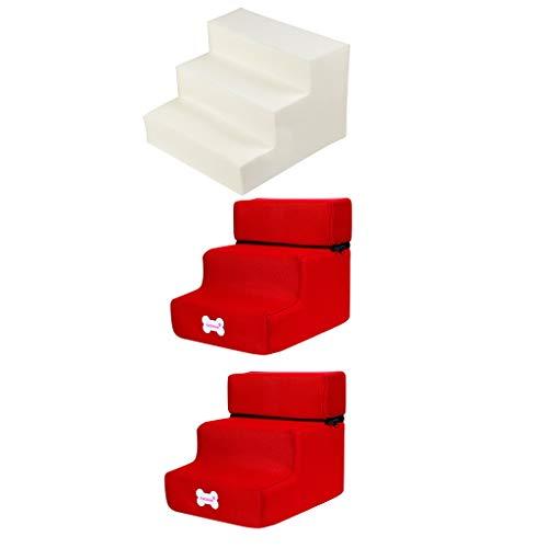 Yowablo Neue 3-Stufen-Mesh-Pet-Kombination mit Rutschfester Unterseite und Leiterabdeckung (Falte Größe:30 * 35 * 30cm,3F)