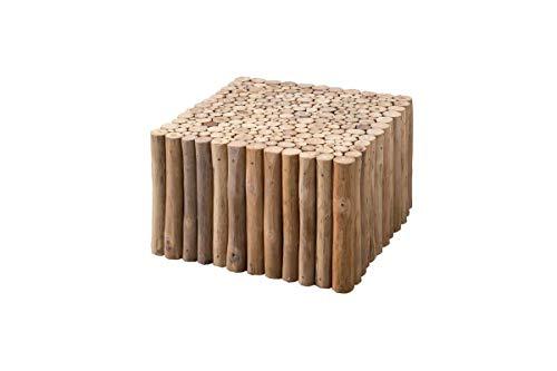 Sit Möbel Romanteaka Couchtisch Teakholz-Äste B 60 x T 60 x H 40 cm natur viereckig