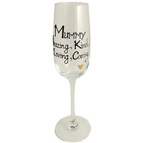 MAMAN CADEAU Flûte à champagne flûte (Noir/argent)