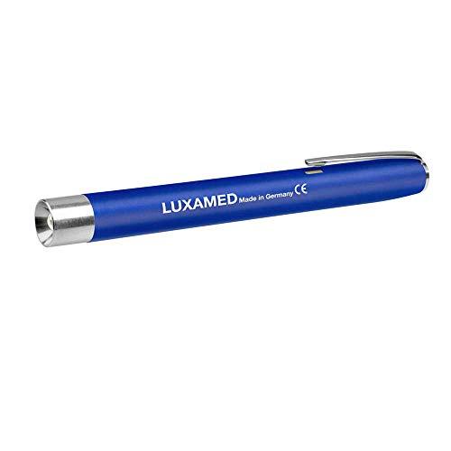 Luxamed Diagnostikleuchte mit Glühlampe Pupillenlampe Pupillenleuchte 2,2 Volt inkl. 2 AAA Batterien blau