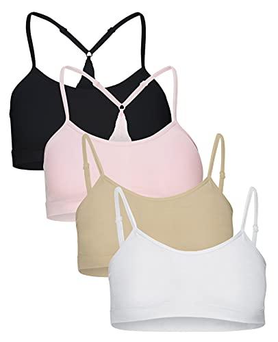 B2BODY Comfort Bras for Women, 4 Pack Seamless Sports Bra Removable Pads Wireless Bra S-2XL Plus Size