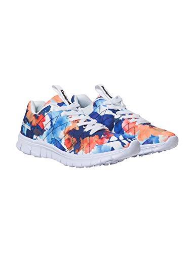 Desigual Shoes (Running Camo Flower), Zapatillas para Mujer, Blanco (Blanco 1000), 40 EU