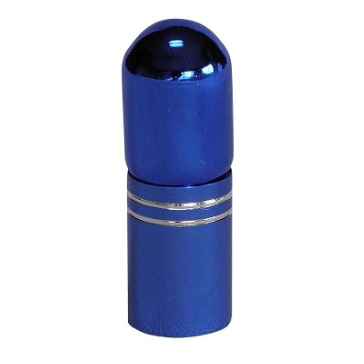 エレガント呪い噴出するアトマイザー 携帯 持ち運び ミニ サイズ 3ml ロール オン タイプ 香水 詰め替え (ブルー)