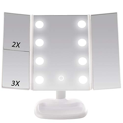 Miss Sweet Miroir grossissant grossissant grossissant 1 x 2 x 3 Blanc