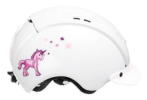 Casco Baby Mini Einhorn Fahrradhelm, weiß-pink, XS