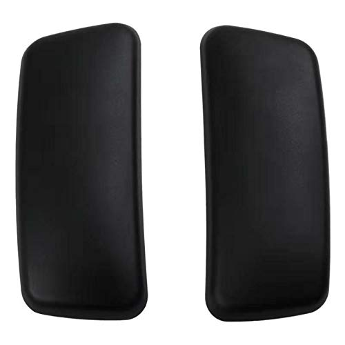New Arm Pads Caps Replacement for Haworth Zody Office Chair 1 Pair Black/Gray (Black)