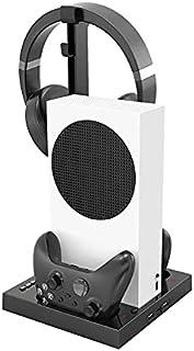 TwiHill a base do ventilador de resfriamento é adequada para Xbox Series S, suporte de armazenamento de fone de ouvido Xbo...